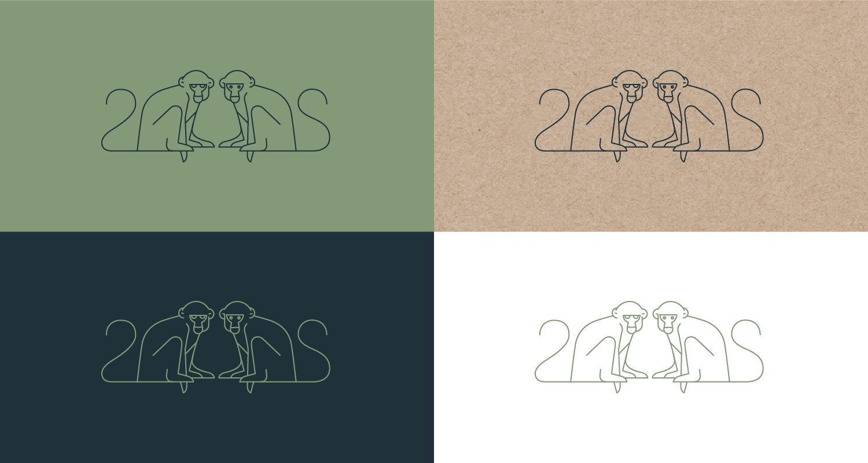 créations logo bar - charte graphique - deux singes - bar a cocktail - réalisé par cleo studio